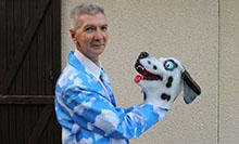 Stéphane Blek et masque dalmatien